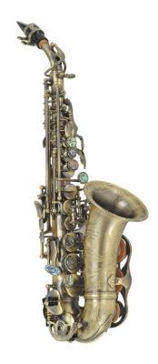 Sopran-Saxophon Paul Mauriat SS-2400 dunkler Vintage-Lack (gebogen)