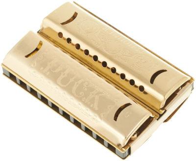 Mundharmonika C / G+C Hohner «double puck» harmonica