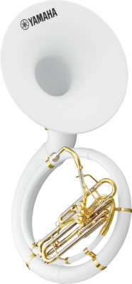 Sousaphon Yamaha YSH-301 ABS/Fiberglas-Schallstück, Ventilblock lackiert