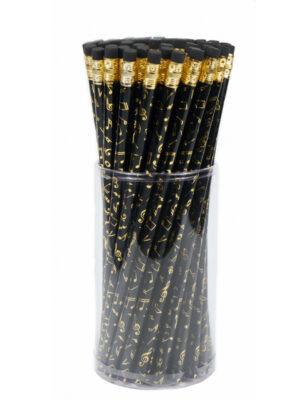 Bleistift Noten schwarz/gold