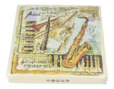 Servietten Musikinstrumente